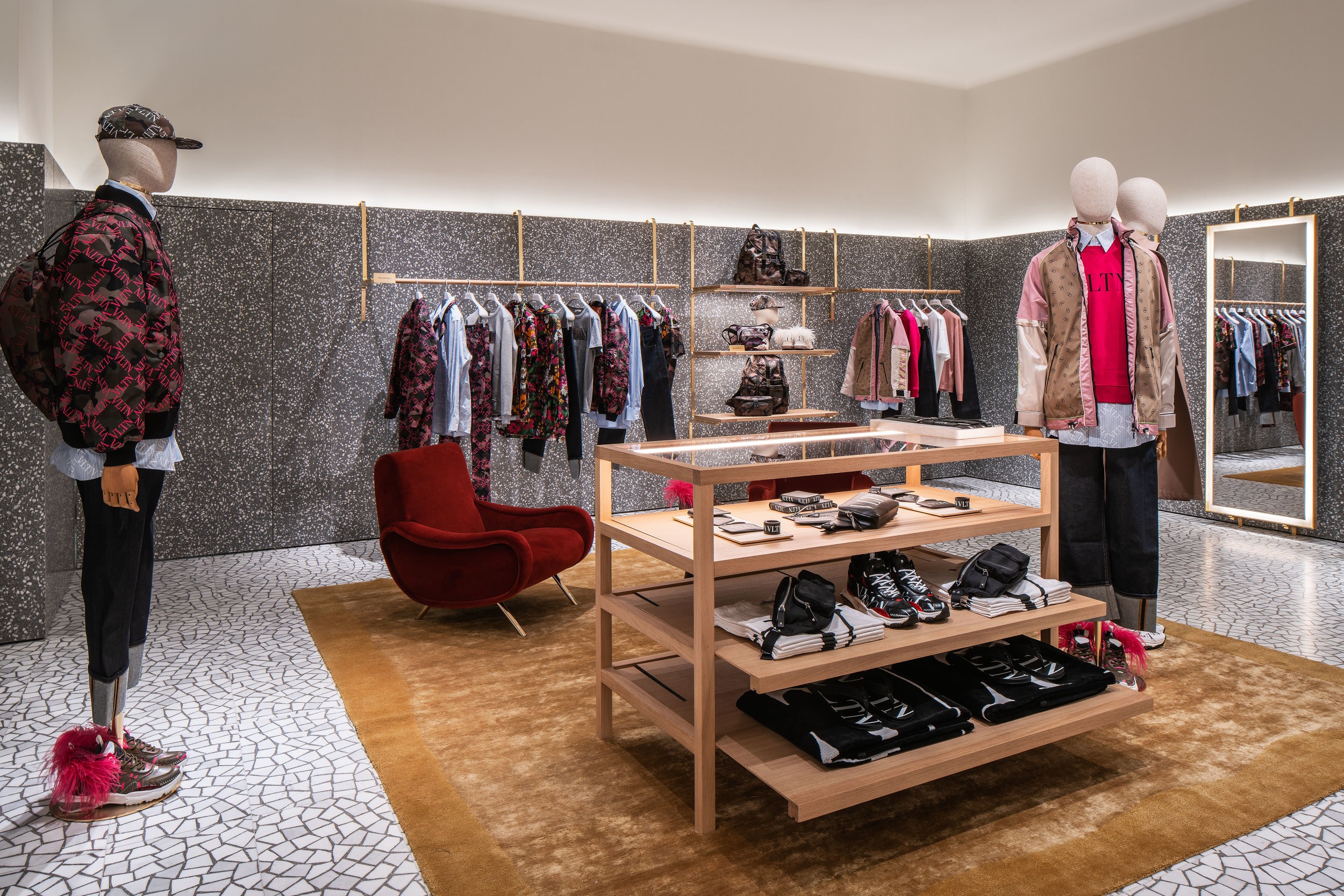 Men's ready-to-wear section