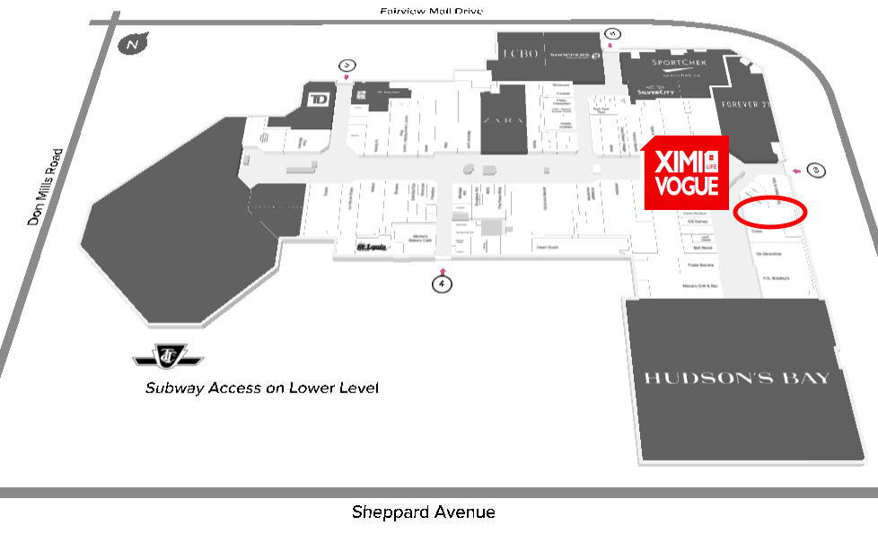 Click Image for interactive CF Fairview Mall Floor Plan
