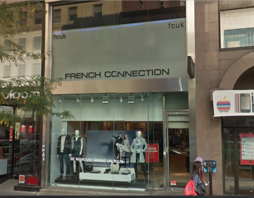 FRENCH CONNECTION STORE IN MONTREAL IMAGE: GOOGLE MAPS