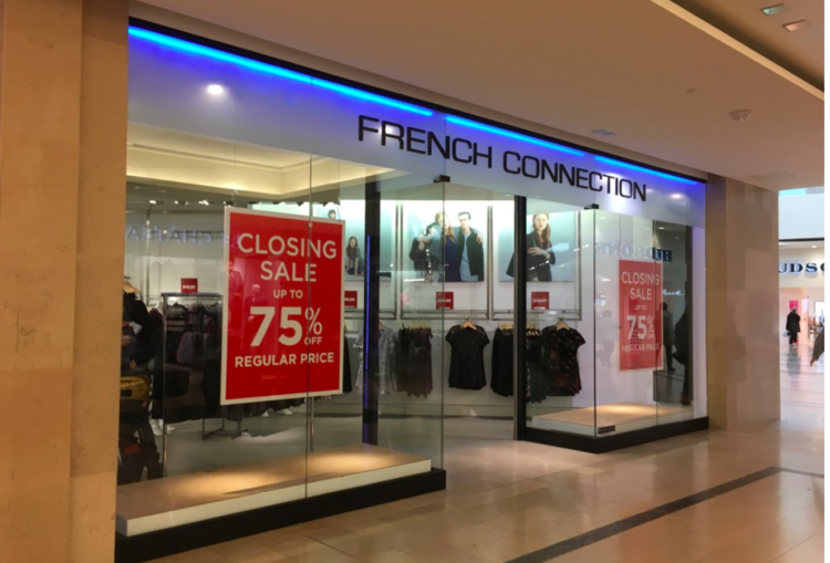 former FRENCH CONNECTION location in cF SHERWAY GARDENS photo: craig patterson