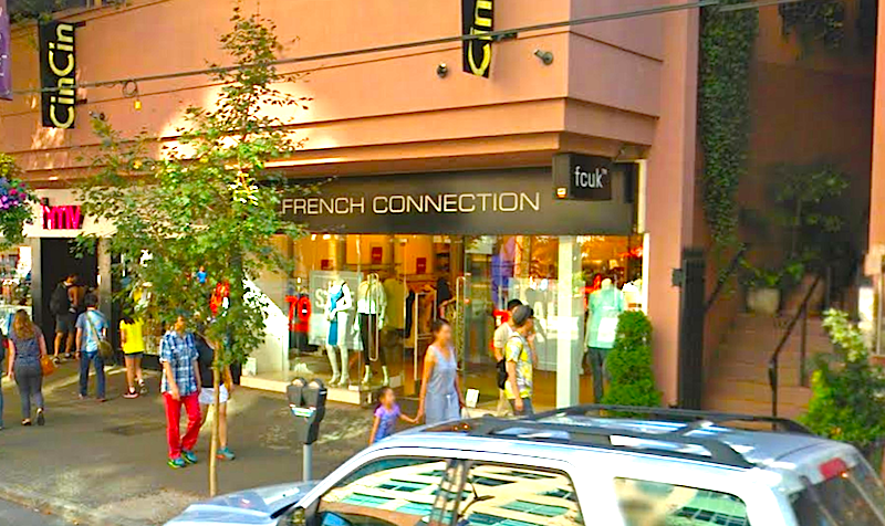 former french connection location robson street image: google streetview