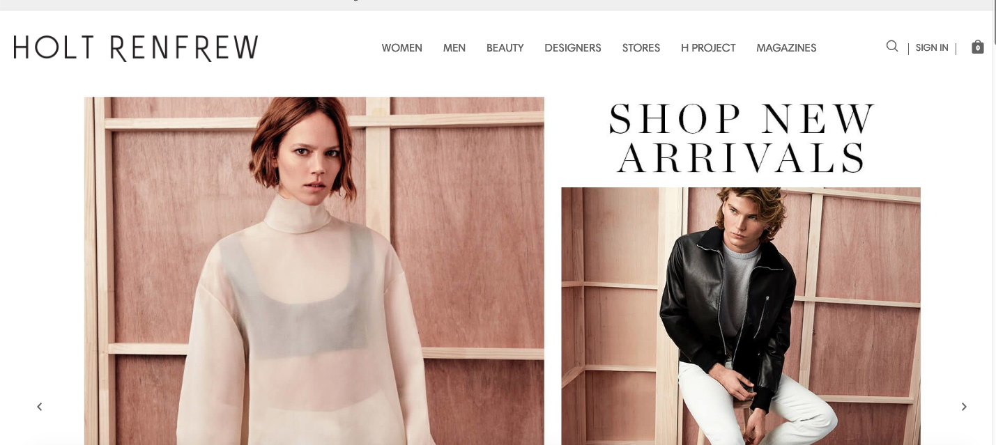 CLICK TO SHOP HOLT RENFREW ONLINE