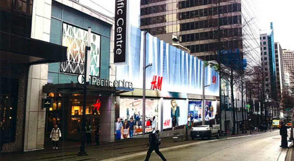 Future H&M CF Pacific Centre facade. Photo: Imperial Sign