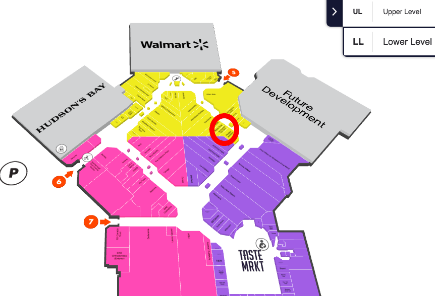Click Image for Interactive Scarborough Town Centre Mall Map