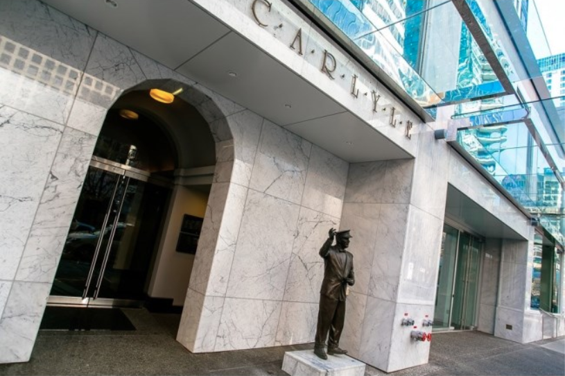 'The Carlyle' complex in Vancouver houses several well-known luxury retailers. photo via century 21