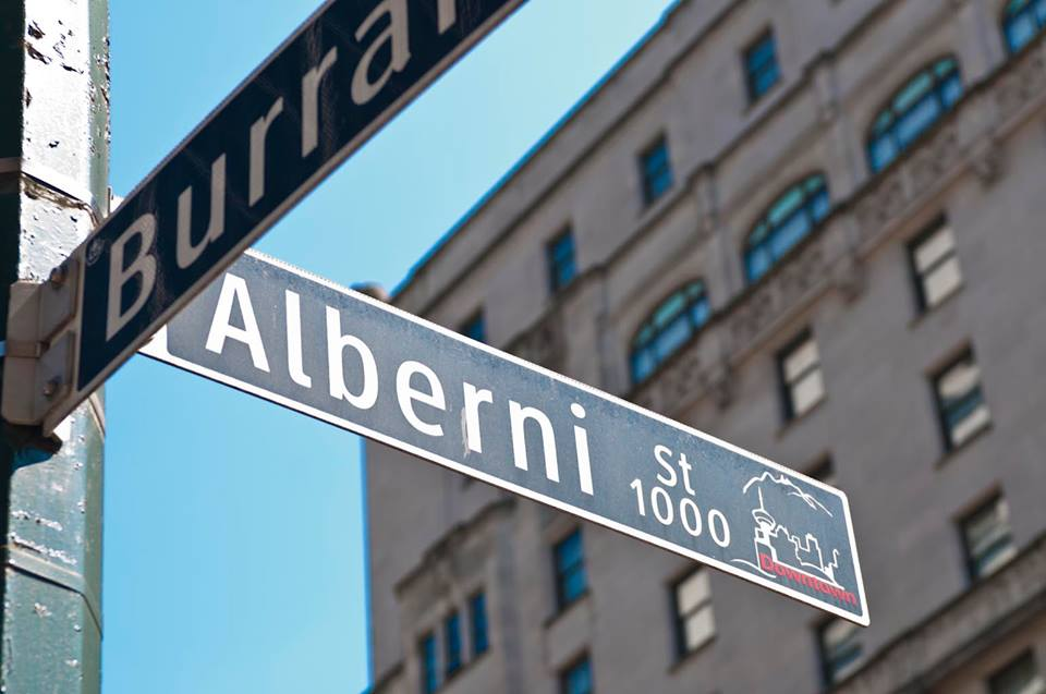 The Alberni/Burrard Intersection in Vancouver is the epicentre of the city's 'luxury Zone'. PHOTO: ALBERNI STREET VIA FACEBOOK