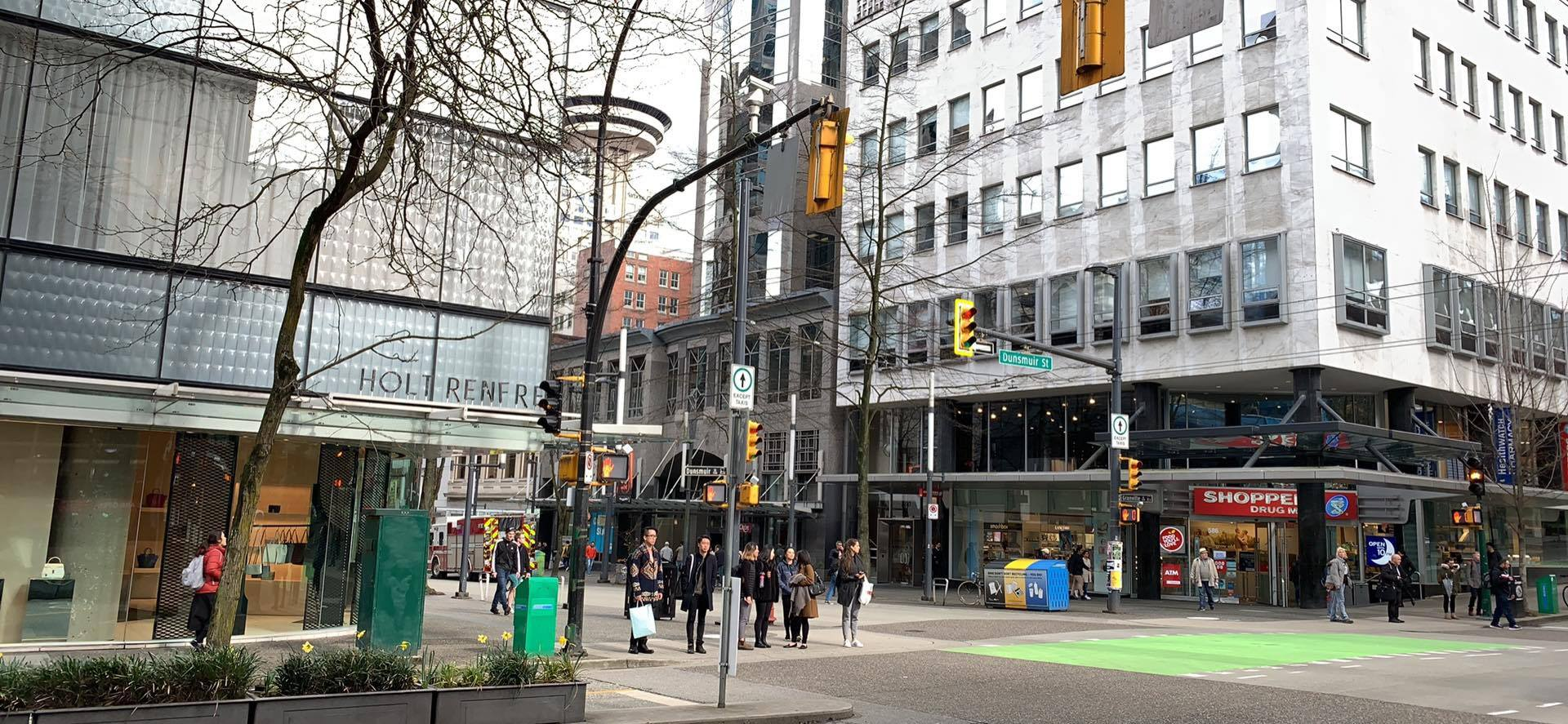 CF Pacific Centre area housing Holt Renfrew and other luxury stores. (Note: Retail Insider is using photos only as examples and is not implying that these retailers were targets of theft). PHOTO: LEE RIVETT
