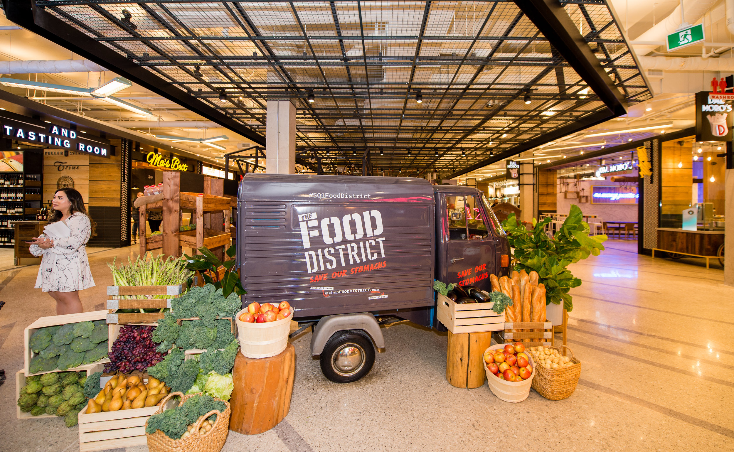 'District Market' at the front of the Food District, designed by Amal Aflak. PHOTO: TARA NOELLE