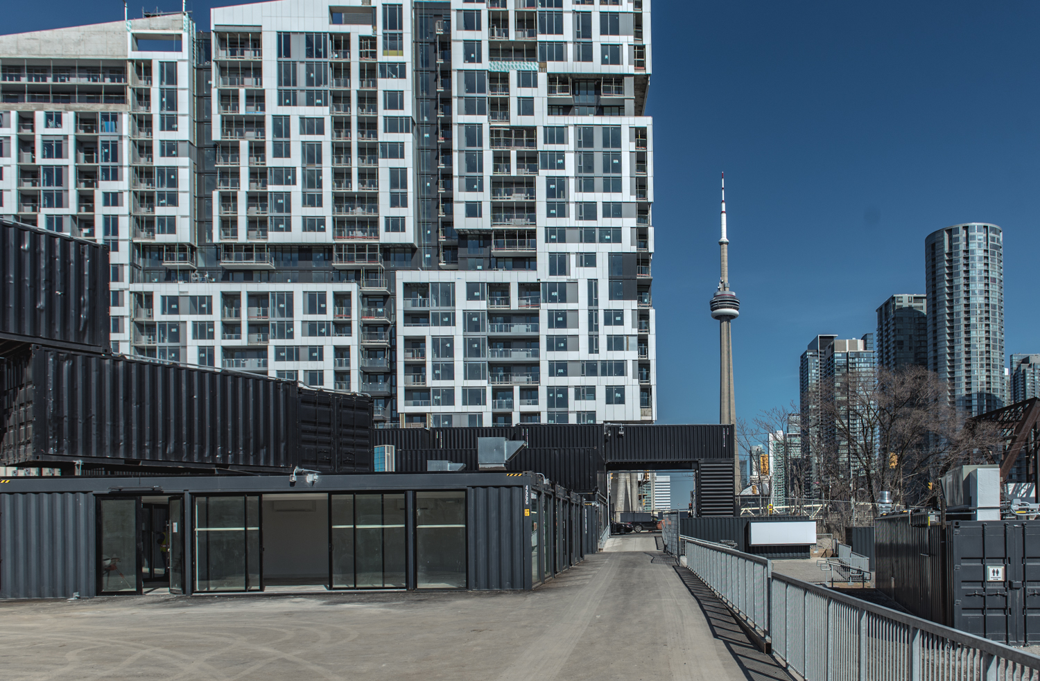 Looking eastward from the main gate towards the CN Tower photo: stackt market