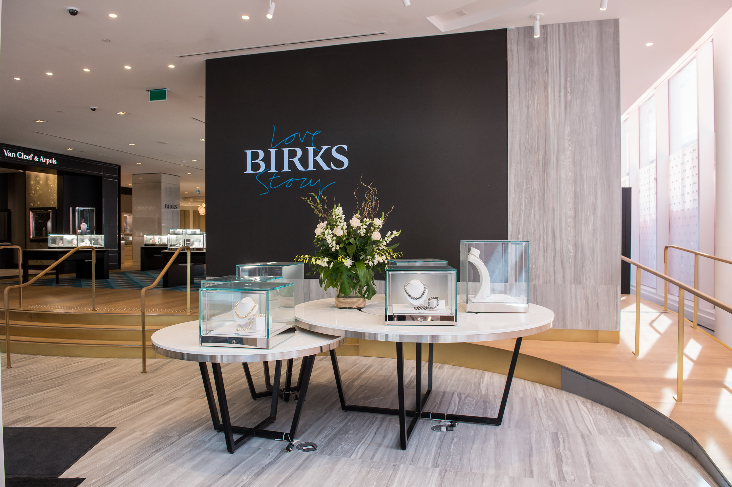 The 'Labo' Pop-up area with video screen at the front of the new store. Photo: Maison Birks
