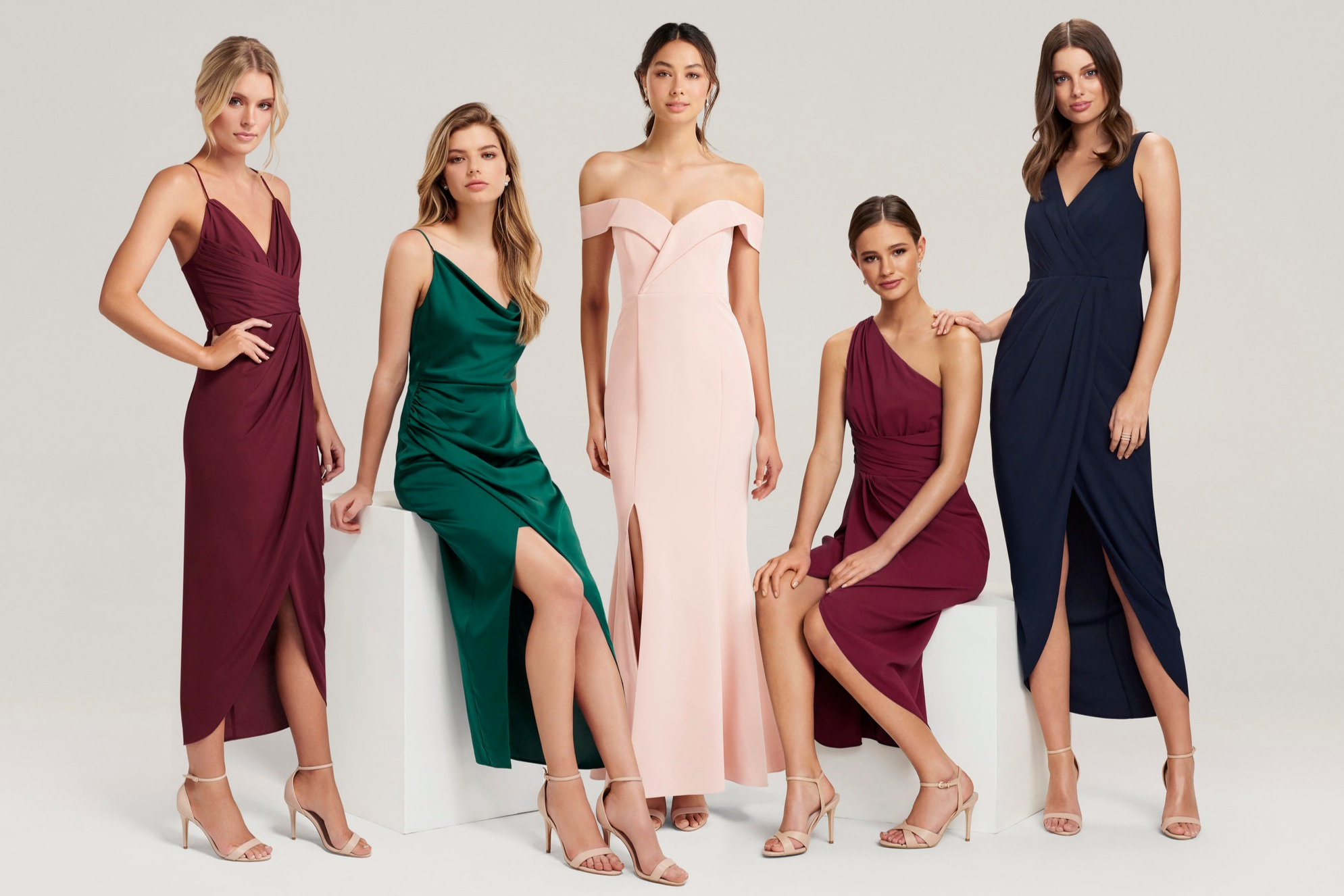 """PHOTO: EVER NEW's """"main event"""" collection of bridesmaid dresses"""