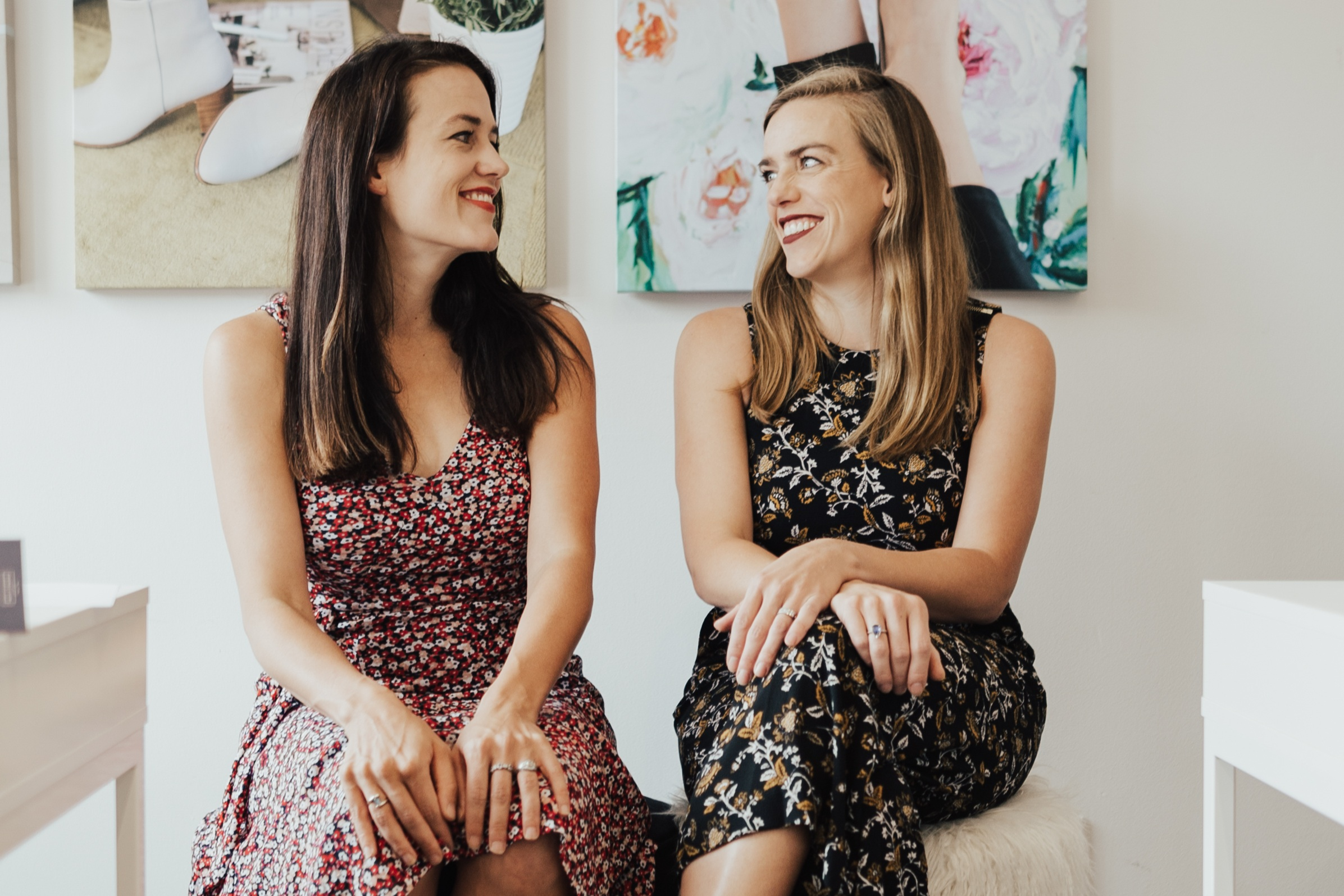 SISTERS AND CO-FOUNDERS OF POPPY BARLEY Justine (LEft) and Kendall (right) barber photo: poppy barley