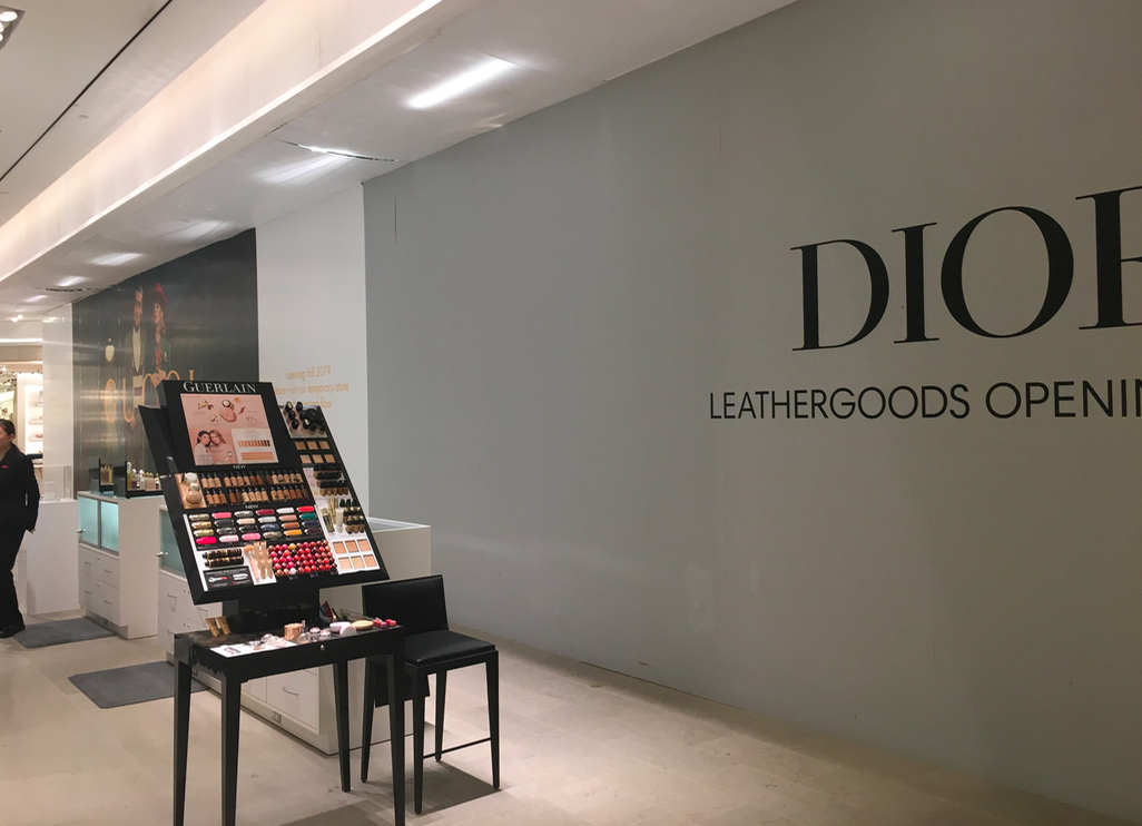 Coming soon: New Gucci and Dior accessory shops. PHoto: Retail Insider