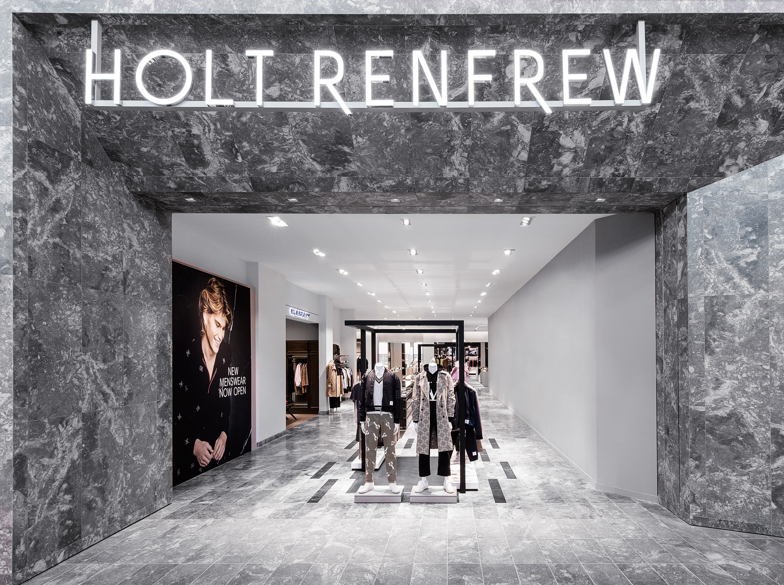 Updated mall entrance to HOLT RENFREW YORKDALE PHOTO: HOLT RENFREW
