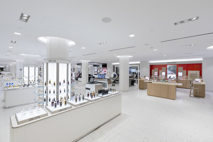 Concourse level beauty hall at Holt Renfrew Ogilvy in MOntreal. Photo: Holt Renfrew