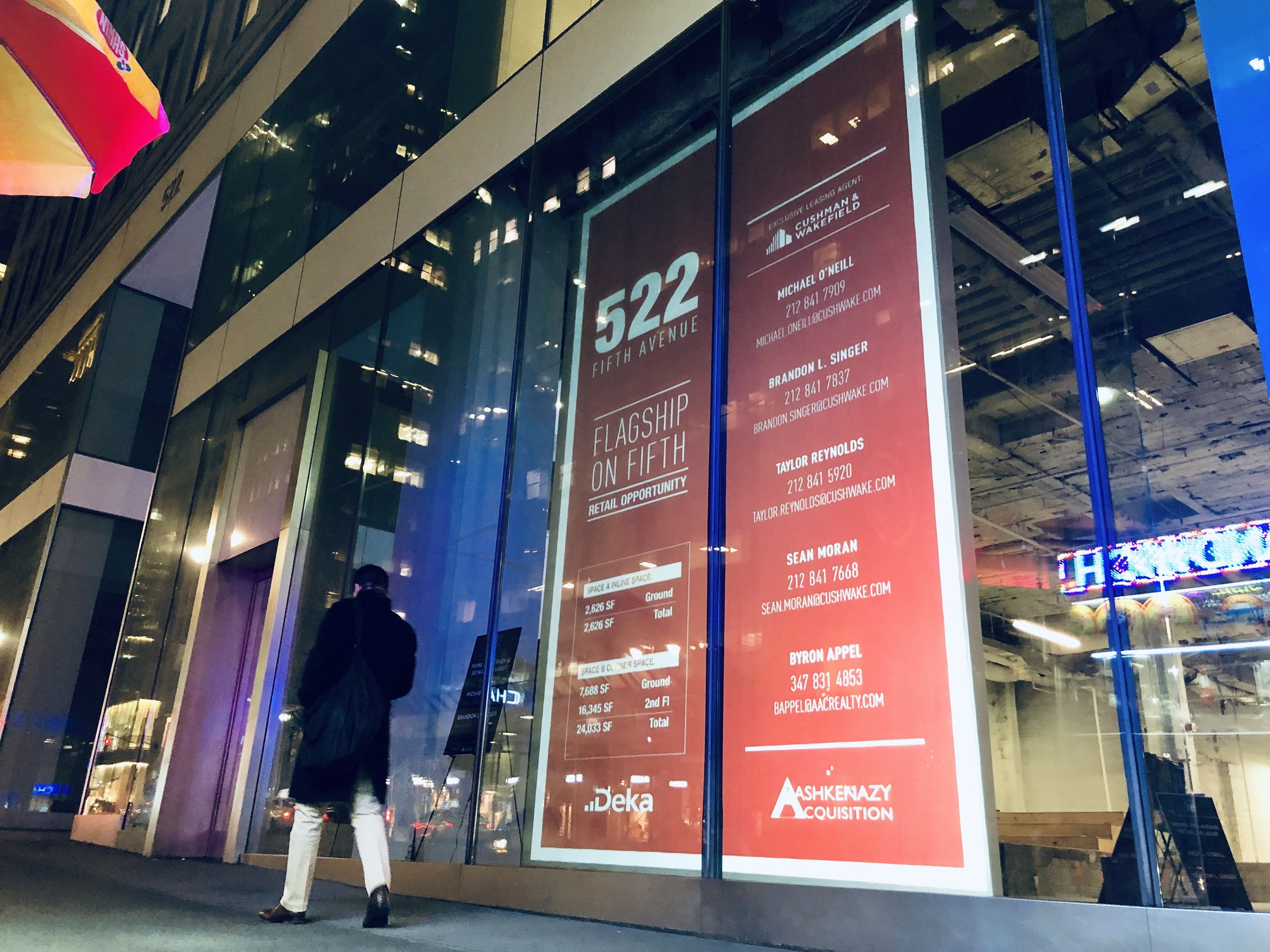 PROJECT FOR CUSHMAN & WAKEFIELD ON 5TH AVENUE IN NEW YORK CITY PHOTO: FRONTRUNNER TECHNOLOGIES