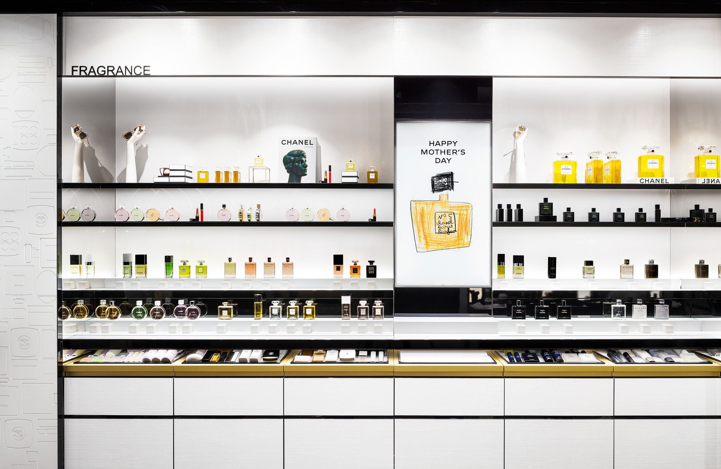 'Fragrance Library' in the new Toronto Chanel fragrance and Beauty Boutique. Photo: Chanel