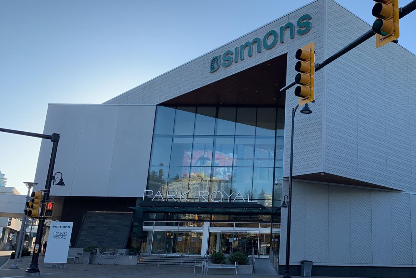 Only La Maison Simons store in BC within PARK ROYAL SOUTH. PHOTO: LEE RIVETT