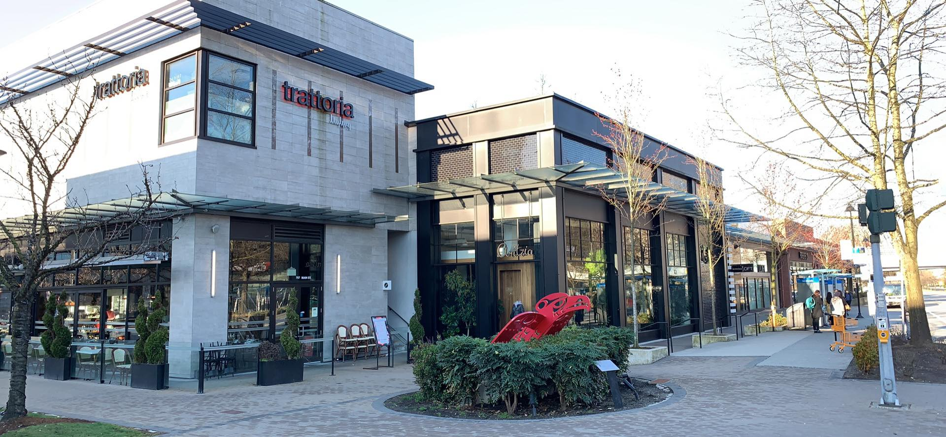 Trattoria (Italian Kitchen), Aritzia and Forever 21 in PARK ROYAL SOUTH. PHOTO: LEE RIVETT