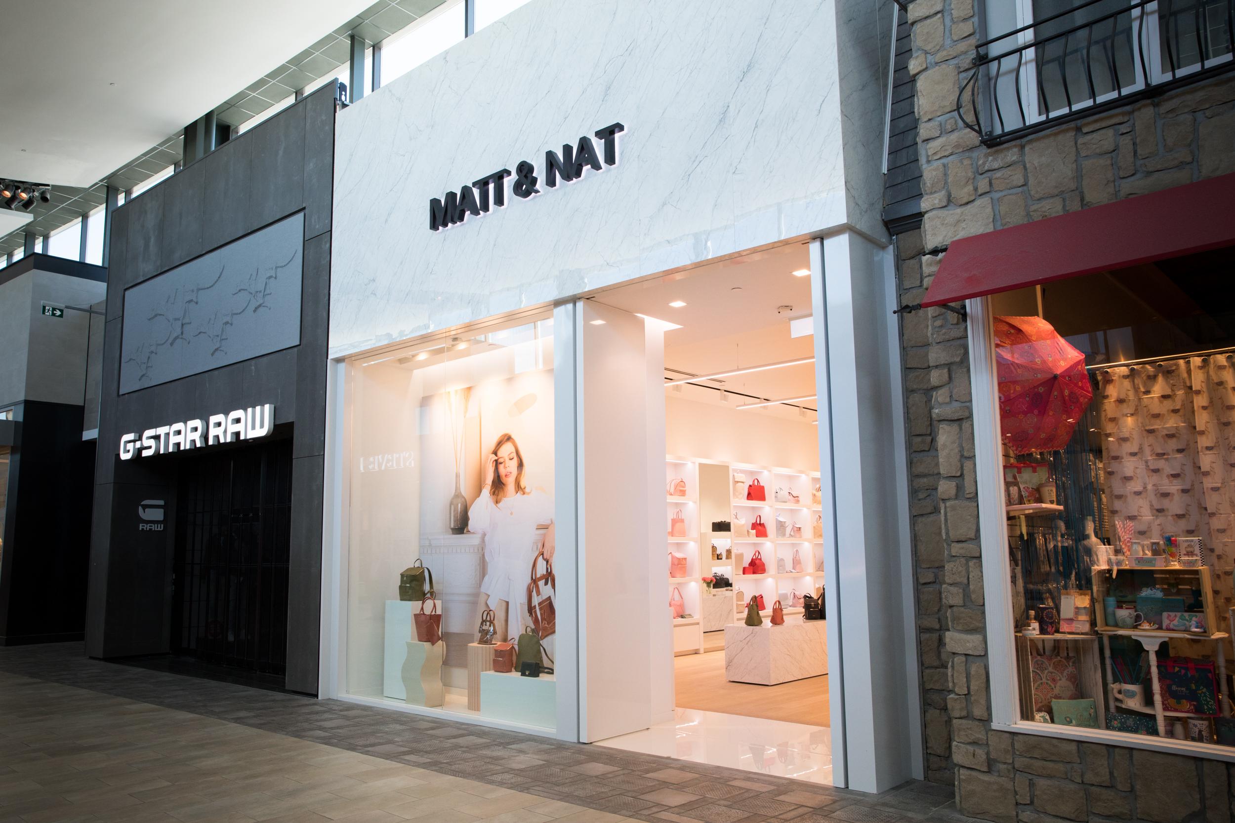 MATT & NAT'S NEW BOUTIQUE AT CF CARREFOUR LAVAL PHOTO: MATT & NAT
