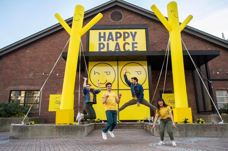 EXPERIENTIAL ACTIVATION IN TORONTO ONTARIO, THE HAPPY PLACE