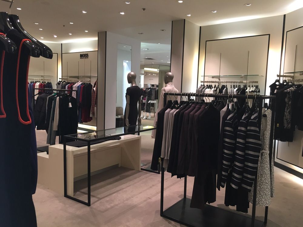 Inside the women's Hugo Boss boutique at Holt Renfrew in Edmonton. Photo: Yelp