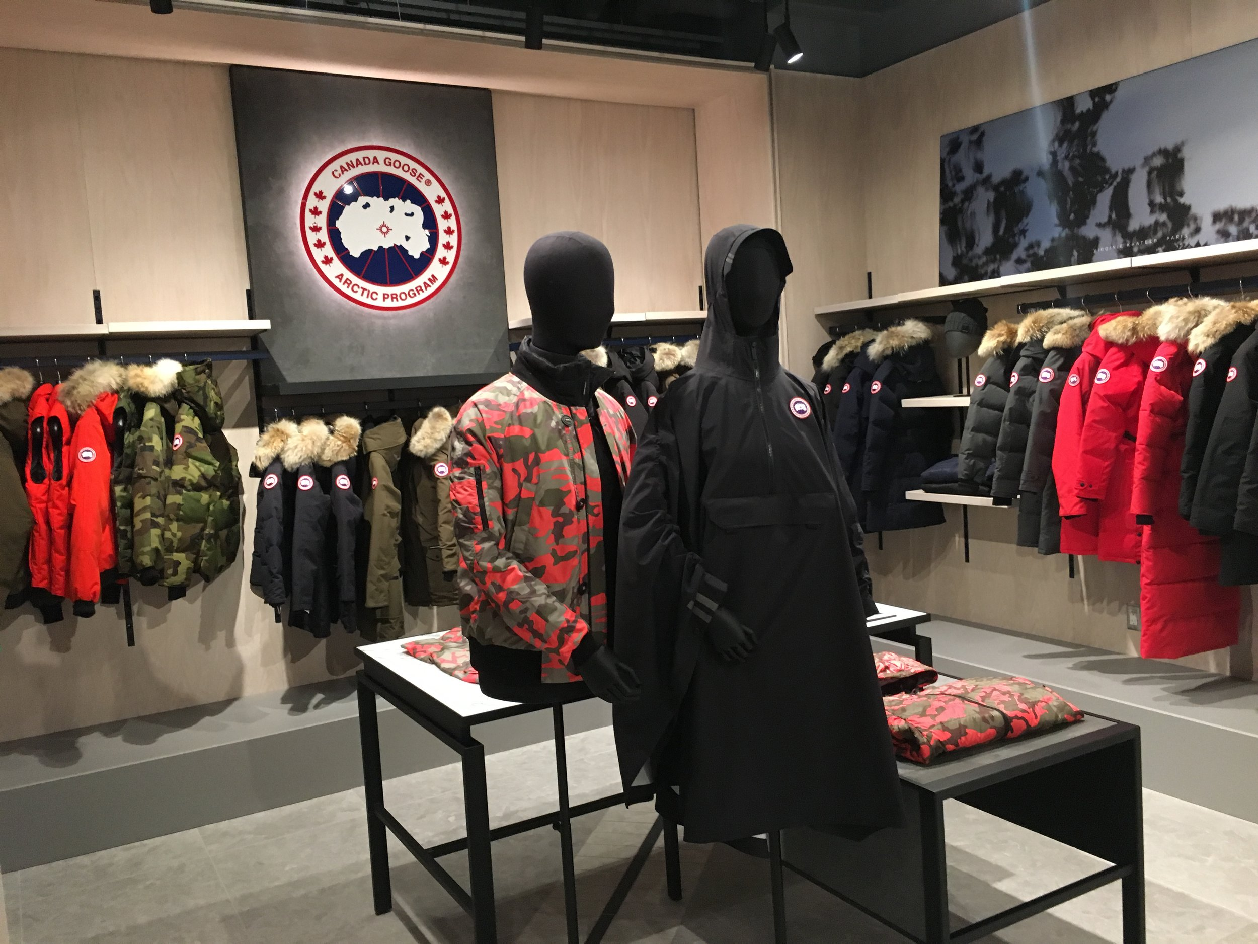Canada Goose shop-in-store.
