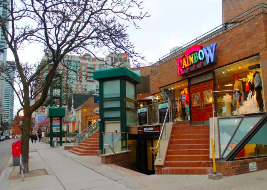 Former store at 101 Yorkville Avenue. Photo: Yellowpages.ca