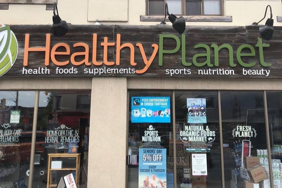 HEALTHY PLANET'S DANFORTH STORE IN TORONTO, ON PHOTO: HEALTHY PLANET VIA FACEBOOK