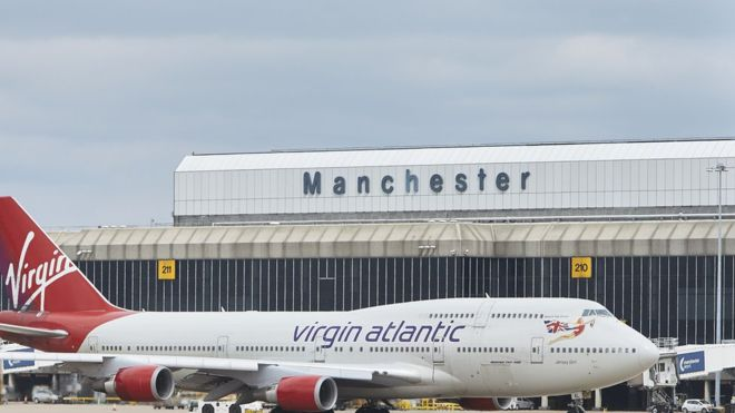 Manchester Airport. Photo:  BBC