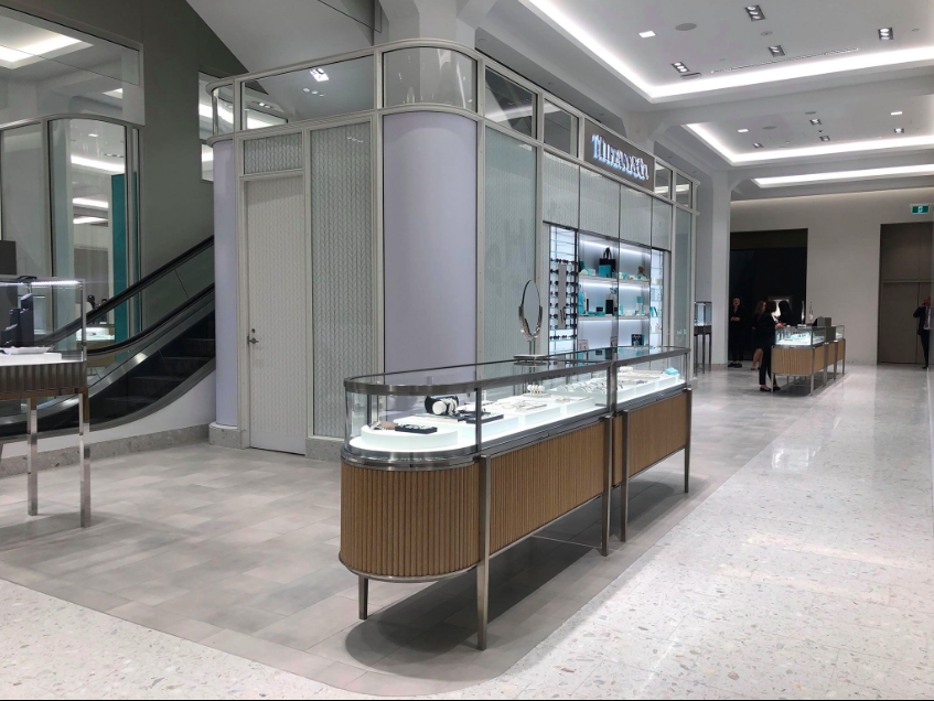Tiffany & Co. Boutique at Holt Renfrew Ogilvy in Montreal. Photo: Maxime Frechette