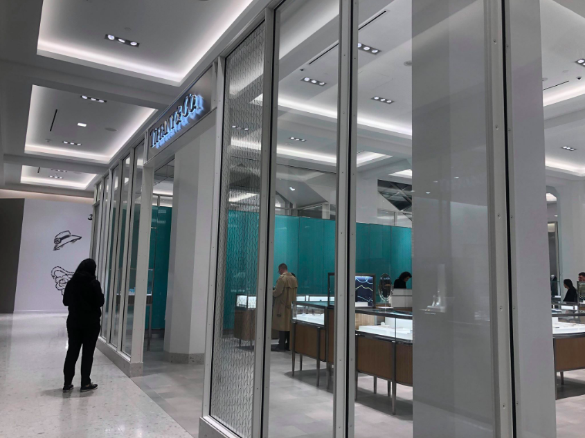 Another look at the Tiffany & Co. boutique at Holt Renfrew Ogilvy in Montreal. Photo: Maxime Frechette