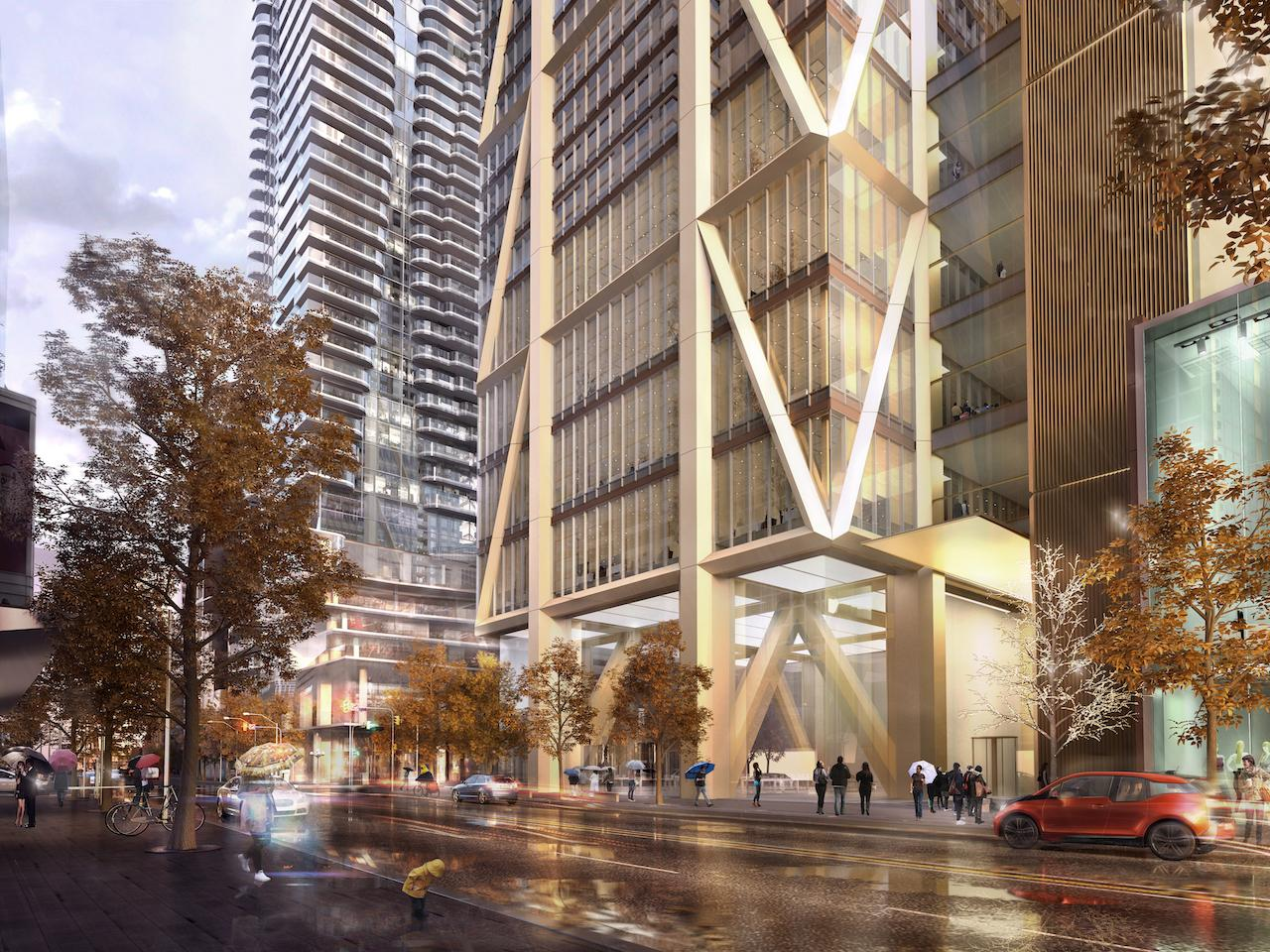 """the one"" tower rendering: via the behar group buzz"