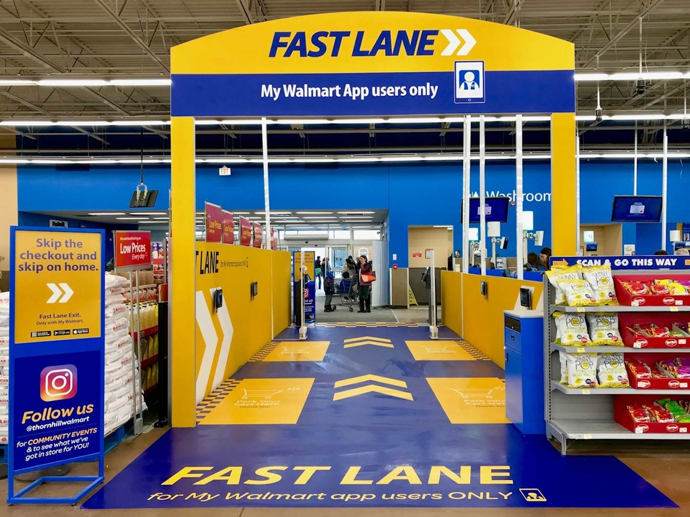Urban Supercentre Concept Fast Lane. Photo: Walmart Canada