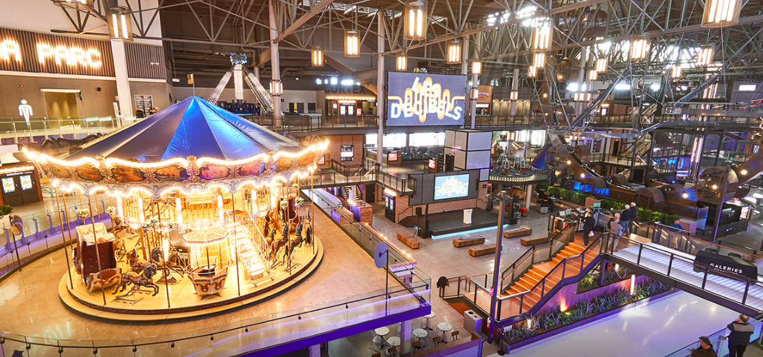 Recently re-opened 'Mega Parc' amusement park at Galeries de la Capitale. Image: Oxford Properties