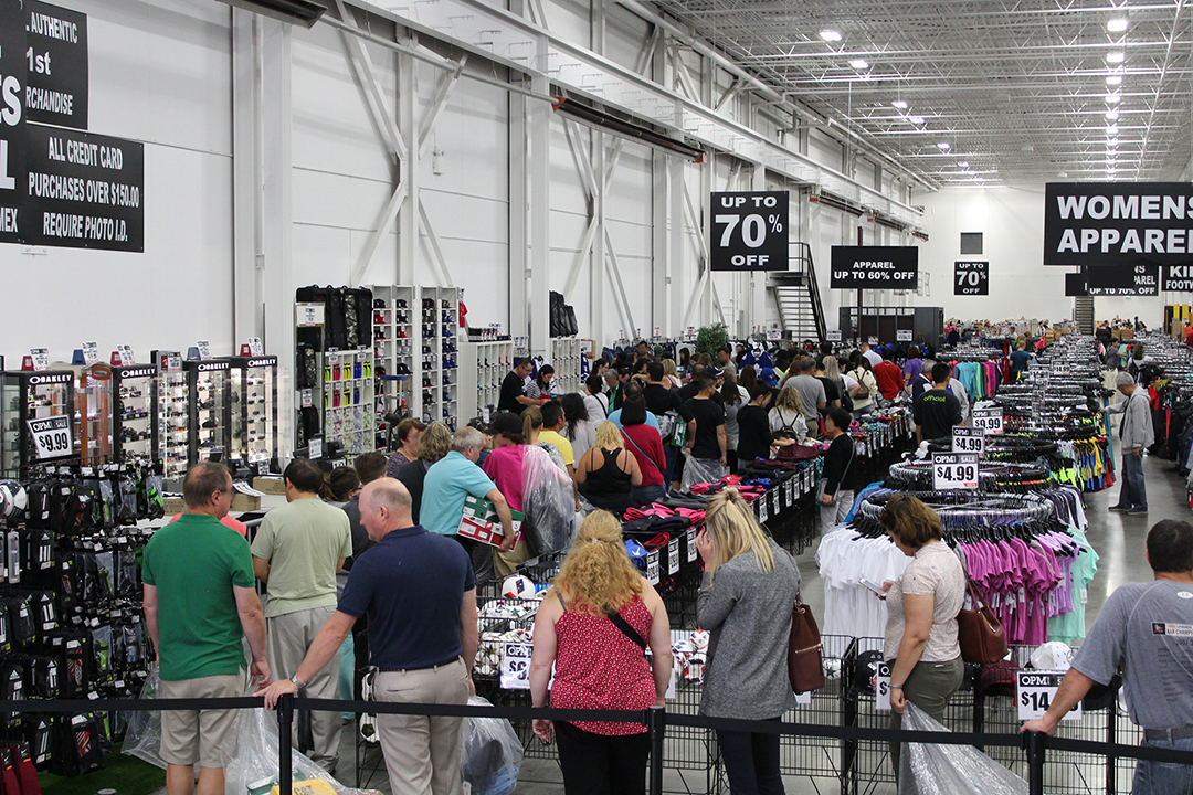 Lineup at one of OMP Sales' successful warehouse events. Photo: OPM Sales
