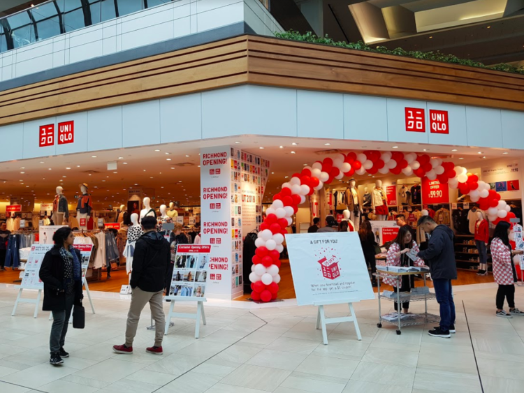 UNIQLO STORE AT CF RICHMOND CENTRE PHOTO: RITCHIE PO