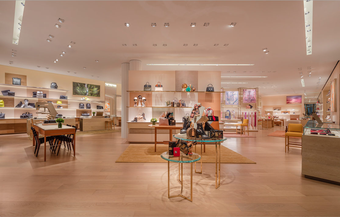 Inside LOUIS VUITTON'S NEW store AT WEST EDMONTON MALL. PHOTO: LOUIS VUITTON