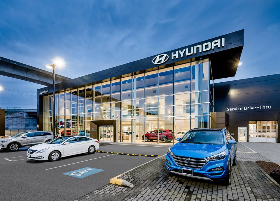 openroad hyundai boundary dealership in vancouver, bc photo: hyundai canada via facebook