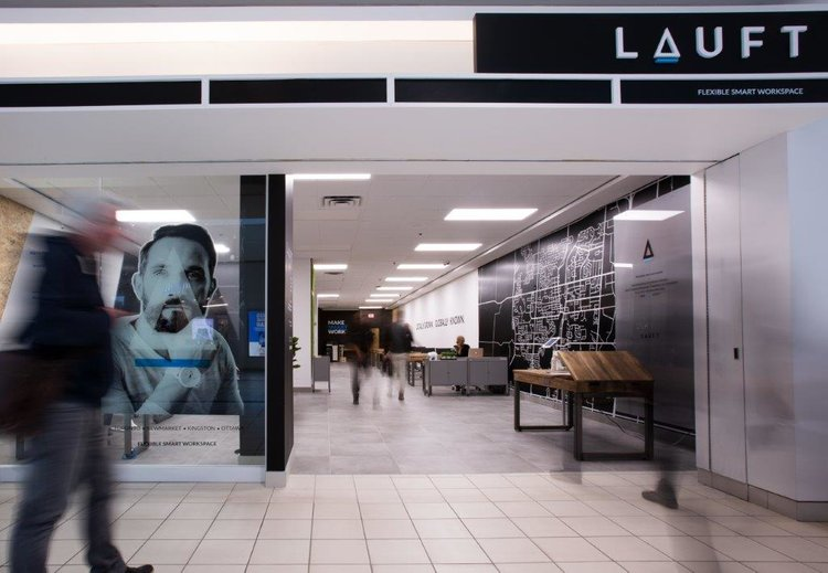 "COWORKING SPACE ""LAUFT"" AT UPPER CANADA MALL"