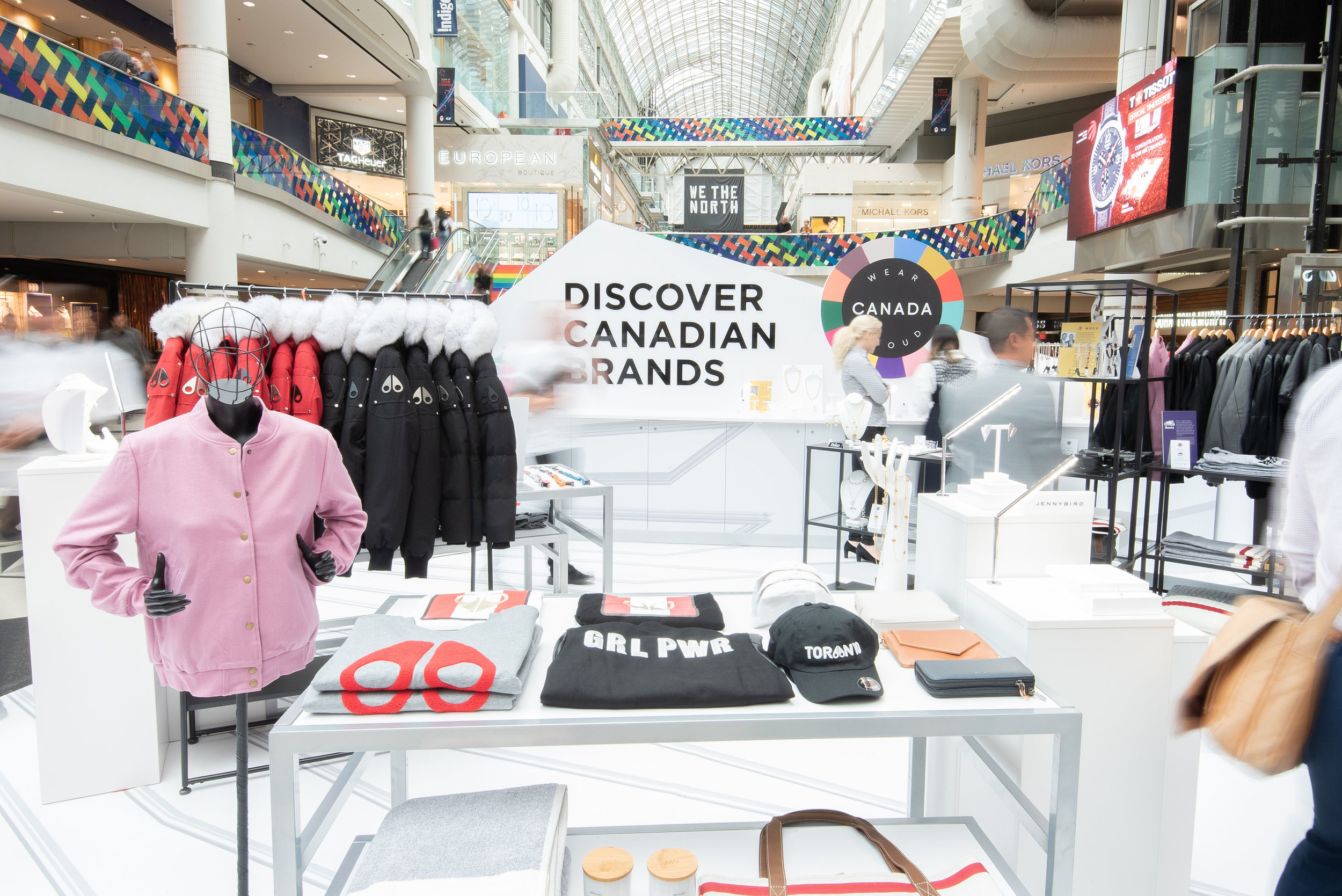 On June 24, Cadillac Fairview (CF), Ravel by CF (Ravel) and CAFA launch their partnership by hosting an exclusive Wear Canada Proud Canadian Designer Pop Up at CF Toronto Eaton Centre. PHOTO: CADILLAC FAIRVIEW