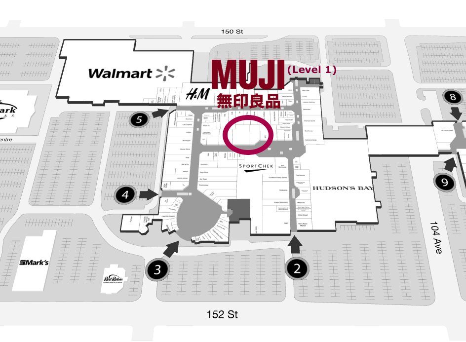 Interactive Guildford Town Centre mall floor plans: Click above for level 1, and below for level 2.