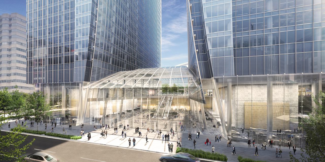 A 'Winter Garden' would add north-south connectivity, with retail spaces boasting 20-foot clear ceiling heights. Image: Oxford Properties.