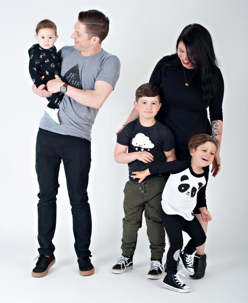 RYAN AND MIRANDA CCALLAGH WITH THEIR SONS PHOTO: WHISTLE & FLUTE