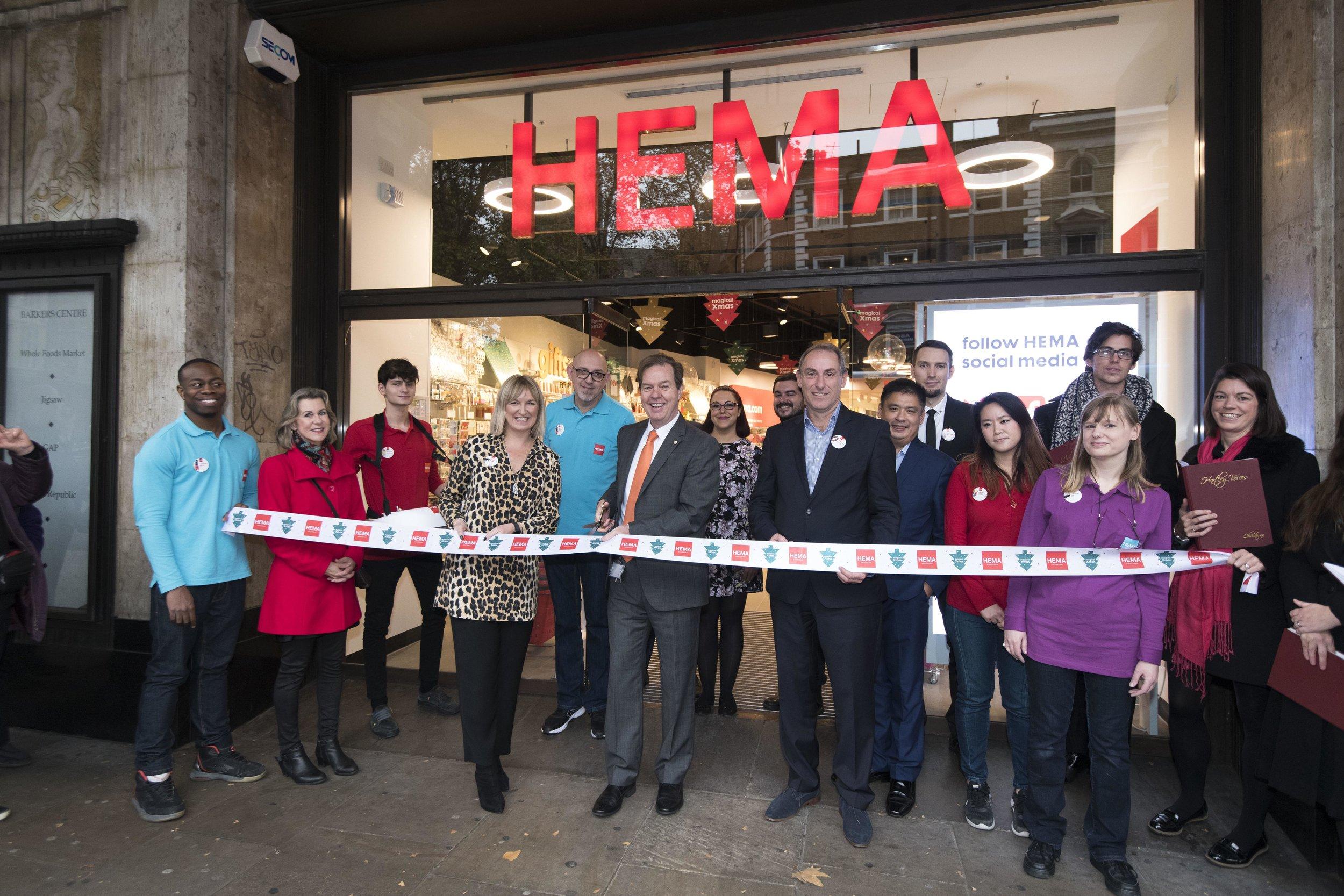 OPENING OF HEMA'S HIGH STREET KENSINGTON STORE IN LONDON, ENGLAND PHOTO: HEMA VIA LINKEDIN