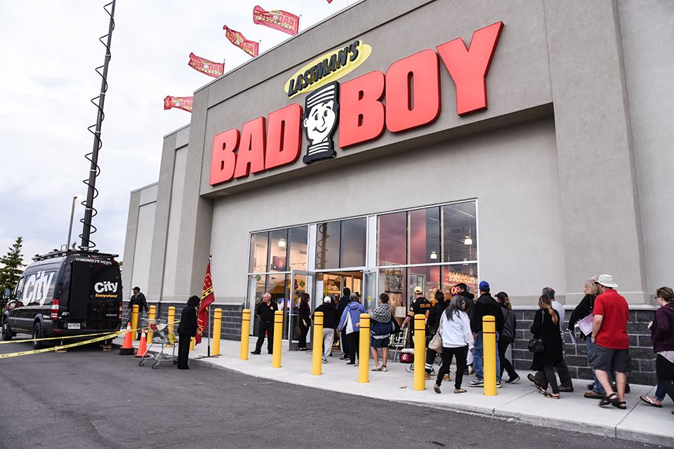 GRAND OPENING OF LASTMAN'S BAD BOY IN ANCASTER, ON PHOTO: LASTMAN'S BAD BOY VIA FACEBOOK