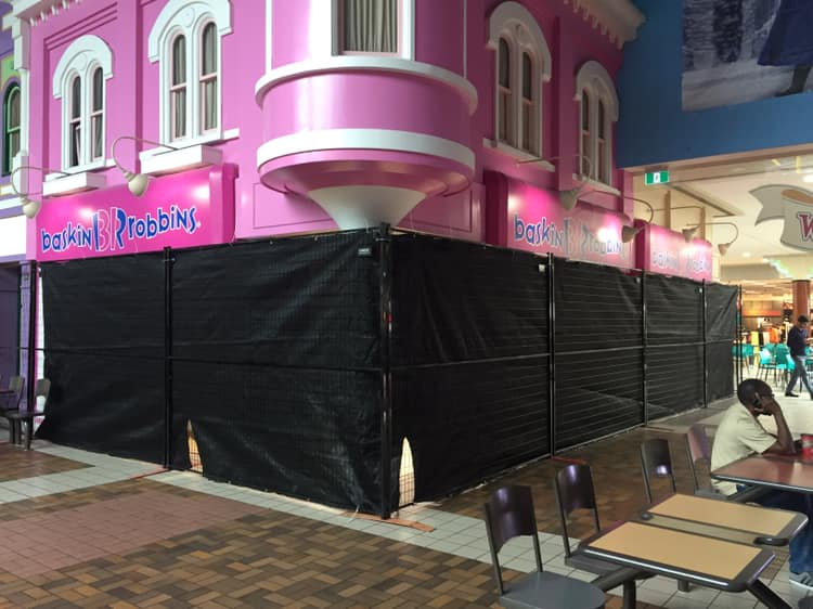 HOARDING DISGUISING THE SURPRISE TRANSFORMATION PHOTO: WOODBINE MALL VIA FACEBOOK