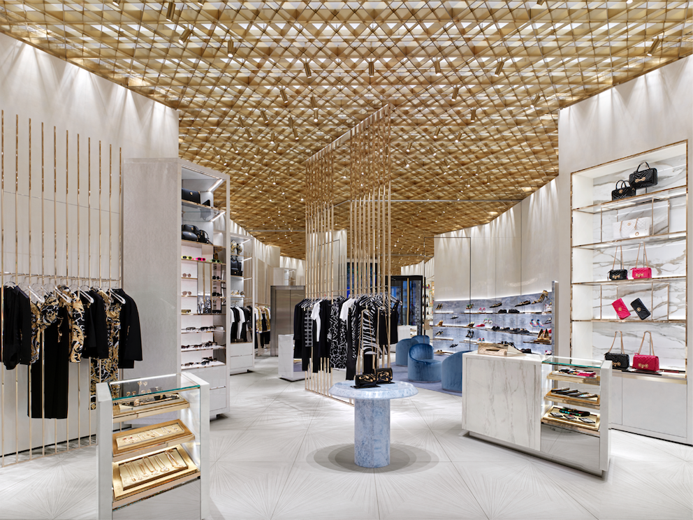 Main level of the new store. PHOTO: VERSACE