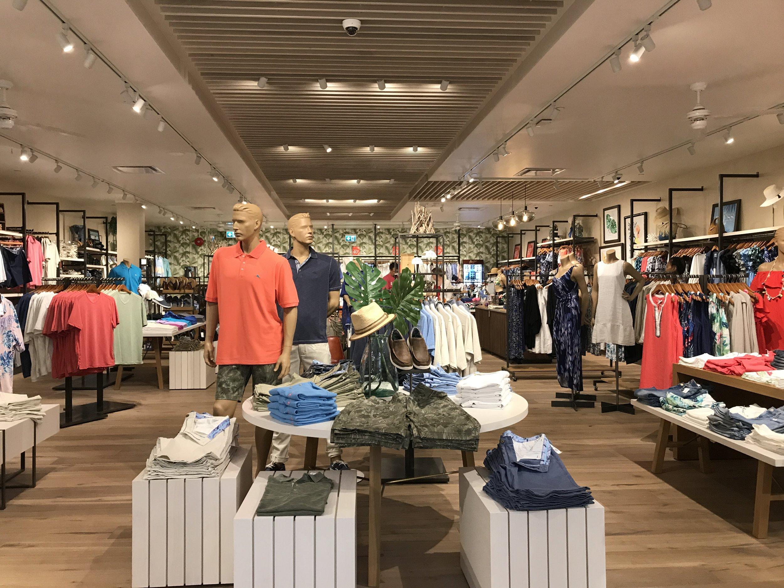 the new tommy bahama store at park royal shopping centre: park royal shopping centre
