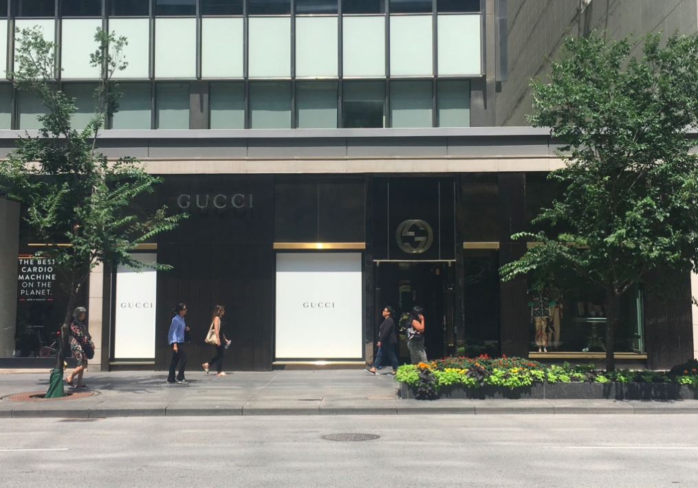 Gucci's Canadian flagship at 130 Bloor St. W. in Toronto. Photo: Craig Patterson